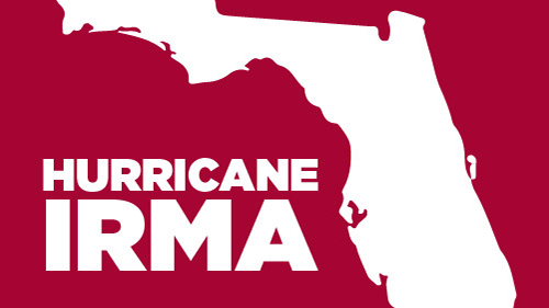 design of miami shadow with text hurricane irma
